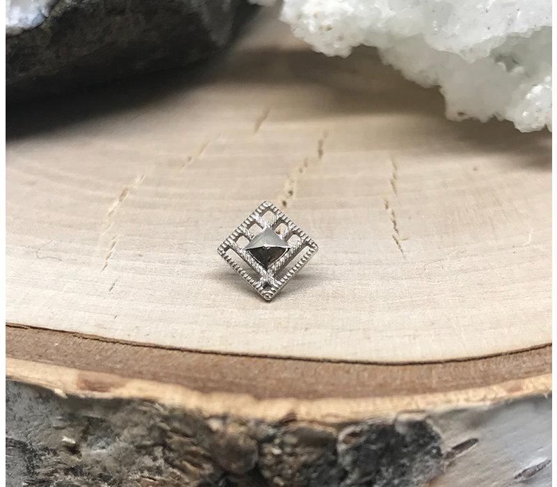 Tether Jewelry Gamma 04  14k White Gold Threadless