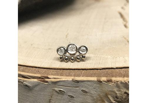 Tawapa Tawapa Tiara 14k White Gold with White Diamond Threadless