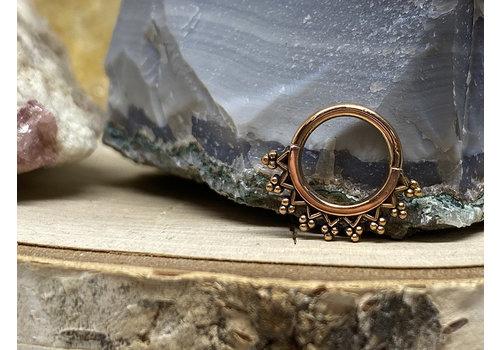 "Maya Jewelry Maya Jewelry Monarch Rose Gold 16g 5/16"" Seam Ring"