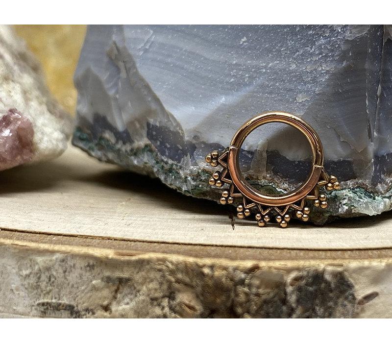 "Maya Jewelry Monarch Rose Gold 16g 5/16"" Seam Ring"