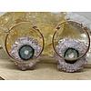Buddha Jewelry Organics Buddha Jewelry Halo Rose Gold Plated Amethyst Small
