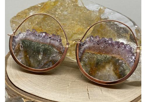 Buddha Jewelry Organics Buddha Jewelry Mini Muse Rose Gold Plated with Amethyst Fluorite Medium