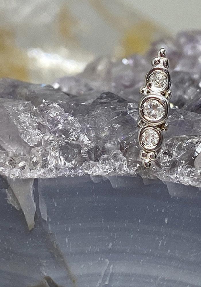 Tawapa Prestige White Gold White Diamond Threadless