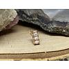 Tawapa Tawapa Shade Solid 14k Rose Gold with (3) 2mm Square White CZ Threadless End