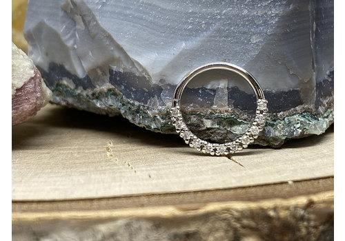 Tawapa Tawapa Infinite Seam Ring Solid 14k White Gold with Genuine Diamonds