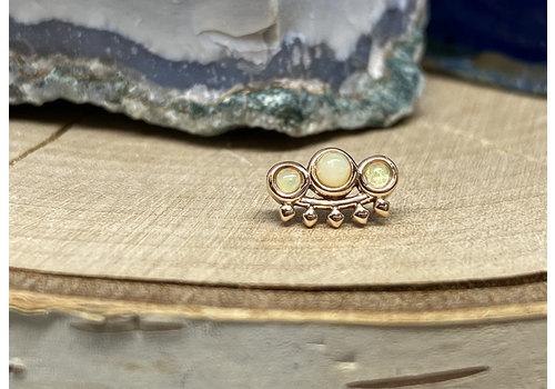 Tawapa Tawapa Tiara 14k Rose Gold with Genuine White Opal Threadless