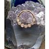"Tawapa Tawapa Daisy Chain Solid 14k Rose Gold with White Diamond 16g 5/16"" Seam Ring"