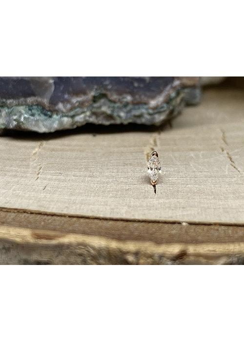 Buddha Jewelry Organics Buddha Jewelry Zuri Rose Gold CZ Small Threadless