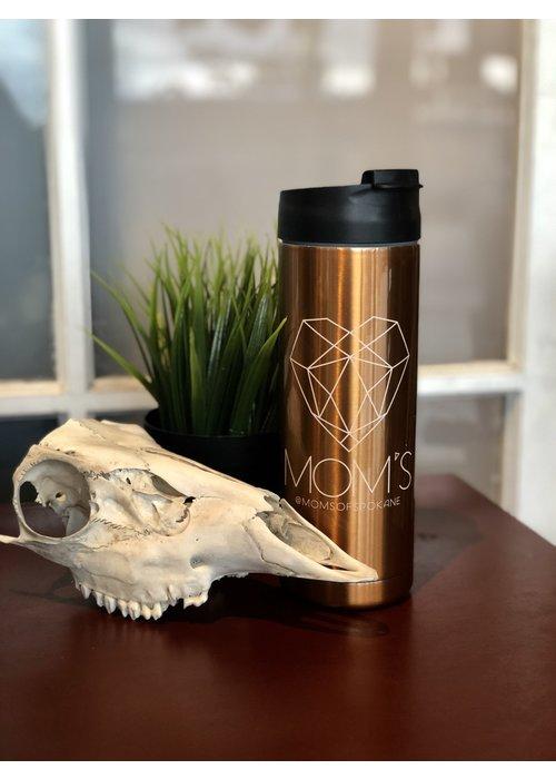 Clearwater Gear Mom's Custom Tattoo Modern  Logo Copper Travel Mug 18 oz.