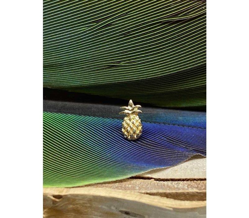 Junipurr Yellow Gold Pineapple Threadless