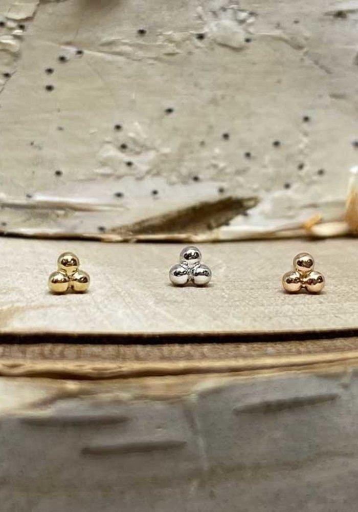 Junipurr Rose Gold Tri Bead Threadless