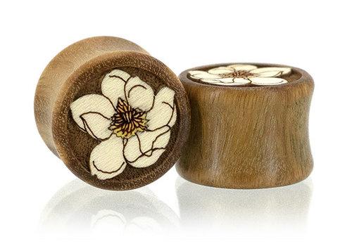 Omerica Omerica Magnolia Inlay Double Flare Wood Plugs