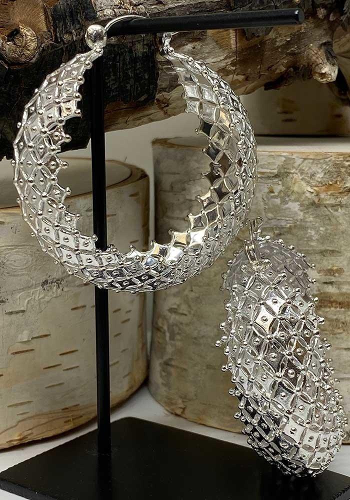 Tawapa Mystic Hoop Silver Plated 18g