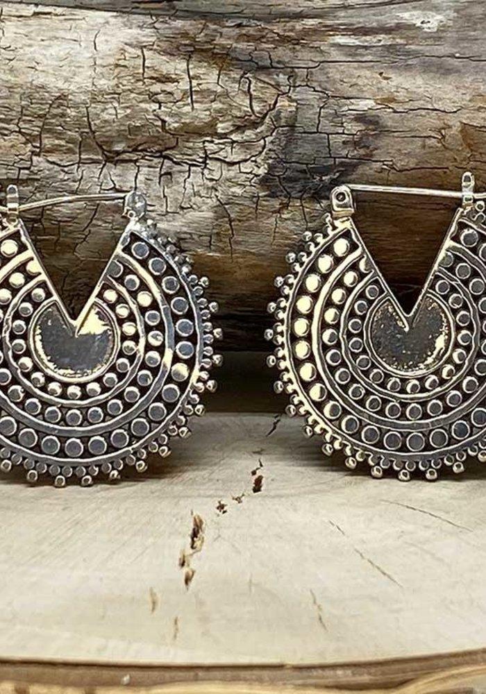 Tawapa Afghan Disc Hoop Silver 18g