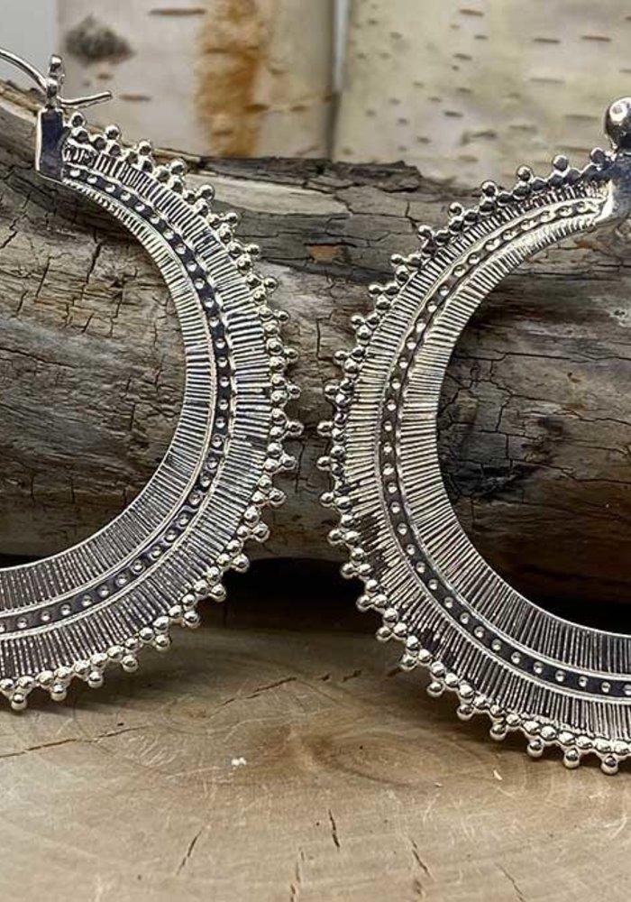 Tawapa Afghan Hoop Silver Plated 18g