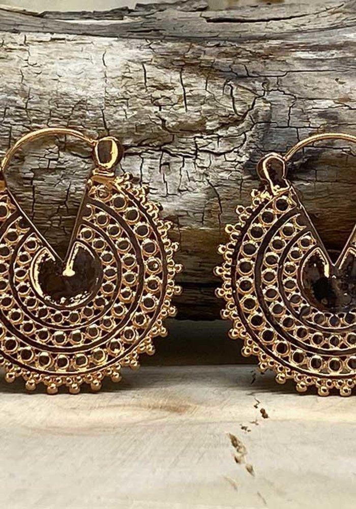 Tawapa Afghan Disc Hoop Rose Gold Plated 18g
