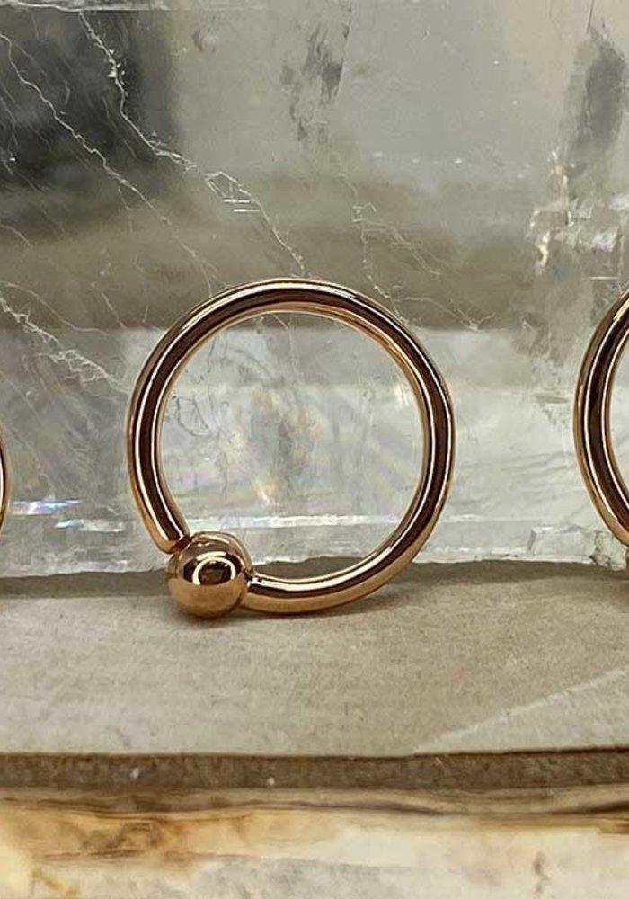 Junipurr Fixed Bead Ring Rose Gold