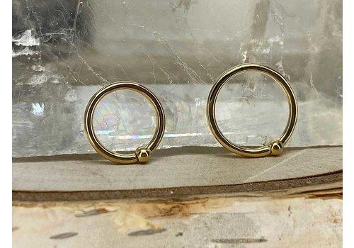 Junipurr Junipurr Fixed Bead Ring Yellow Gold