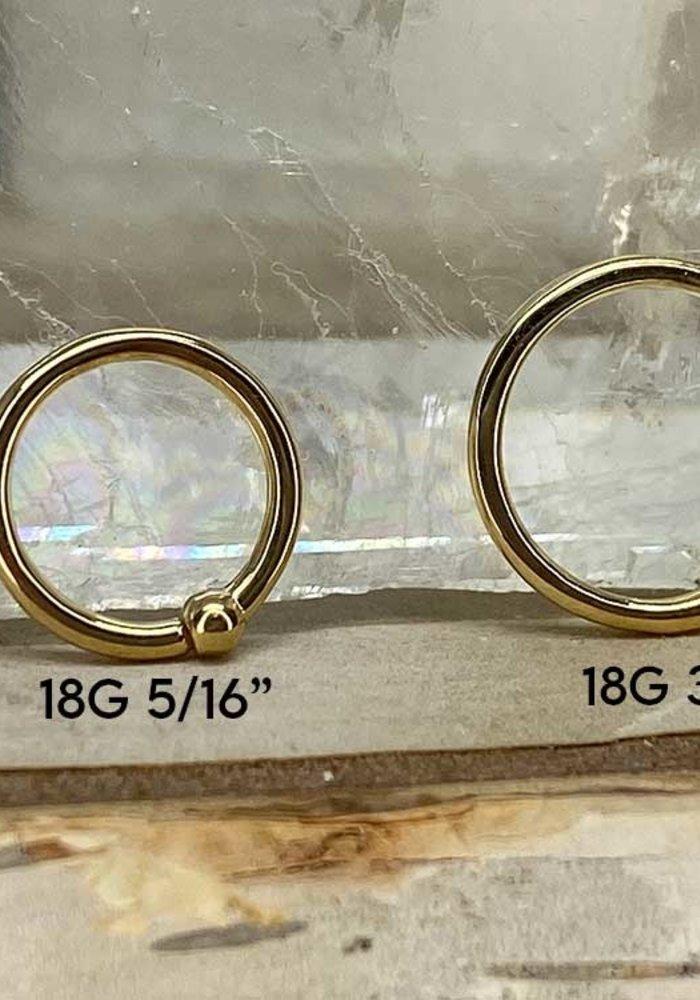 Junipurr Fixed Bead Ring Yellow Gold