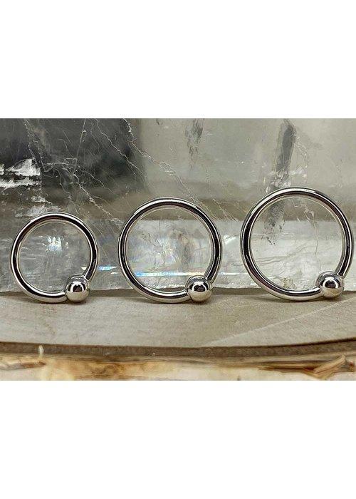 Junipurr Junipurr Fixed Bead Ring White Gold