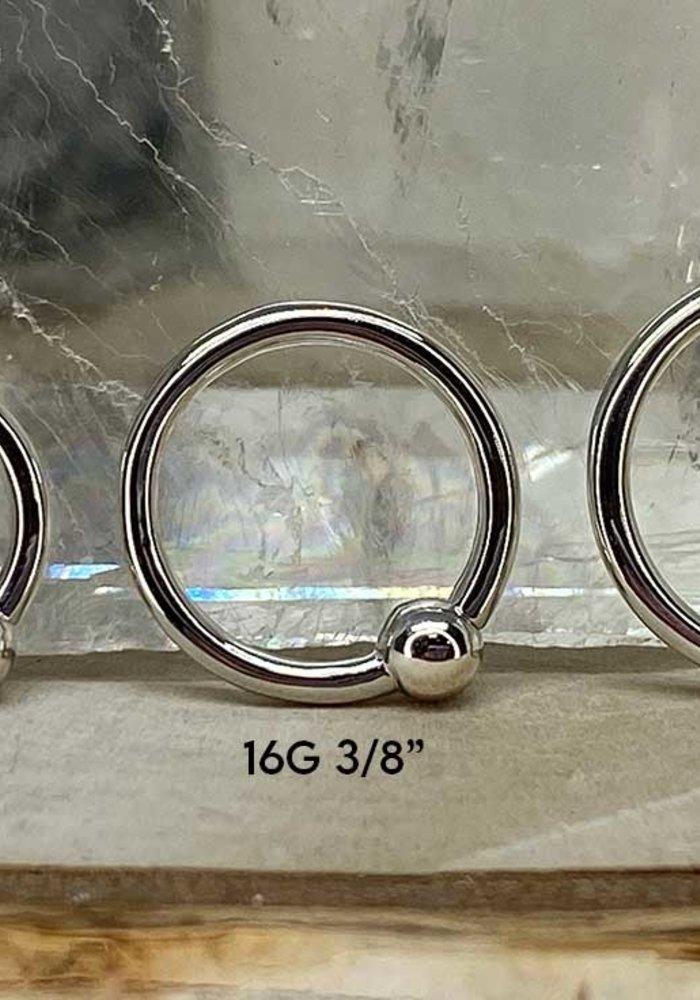 Junipurr Fixed Bead Ring White Gold