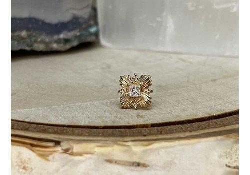 Buddha Jewelry Organics Buddha Jewelry Naomi Yellow Gold with White CZ Threadless