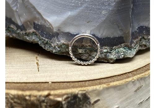 "Tawapa Tawapa Linear 14k White Gold Linear 18g 1/4"" Seam Ring"