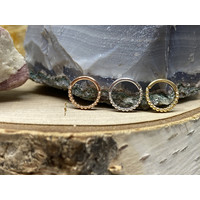 "Tawapa Linear 14k White Gold Linear 18g 1/4"" Seam Ring"