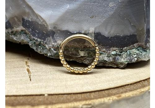 "Tawapa Tawapa Linear 14k Yellow Gold 18g 1/4"" Seam Ring"
