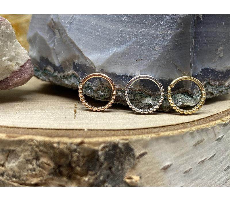 "Tawapa Linear 14k Yellow Gold 18g 1/4"" Seam Ring"