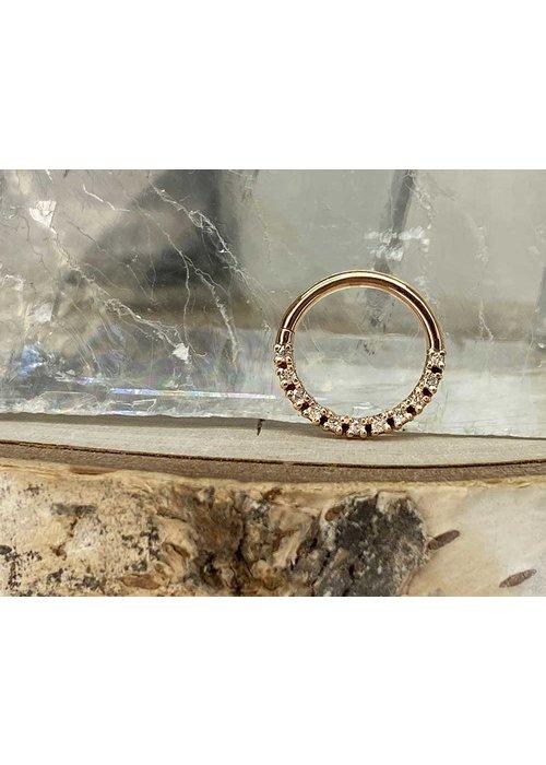 "Tawapa Tawapa Infinite Rose Gold Genuine Diamonds 16g 3/8"" Seam Ring"
