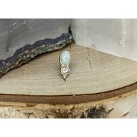 Tawapa Wild Solid 14k White Gold with Genuine Opal Threadless