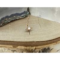 Tawapa Dusk Small Solid 14k Rose Gold with (1) 2mm Round White Diamond Threadless