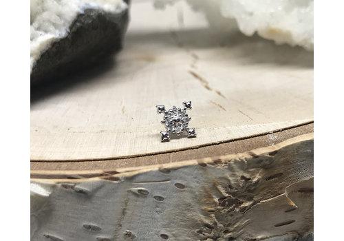Tawapa Tawapa Idol 14k White Gold with White Diamond Threadless