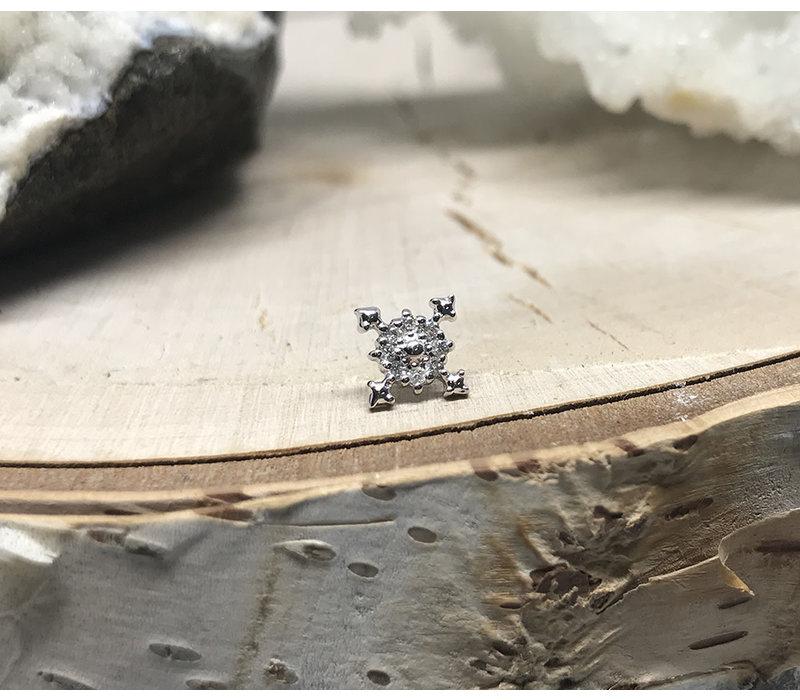 Tawapa Idol 14k White Gold with White Diamond Threadless