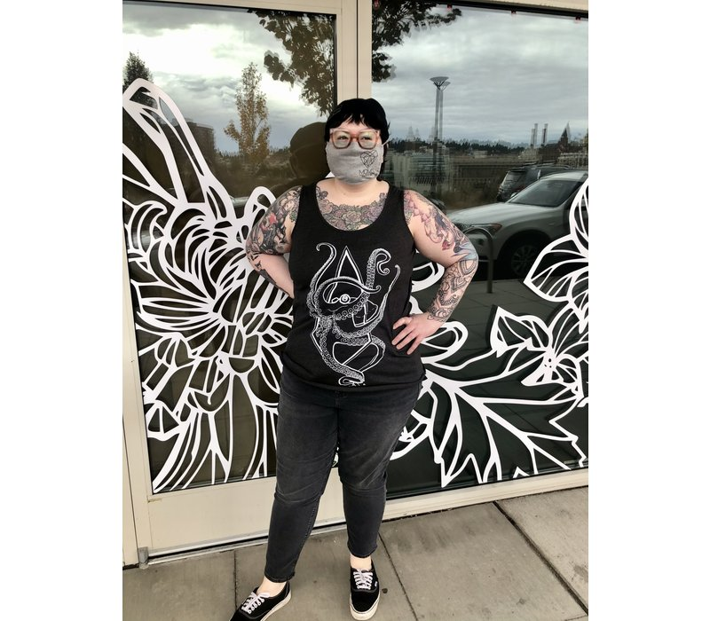 Mom's Plague Doctor Tank Top  Curvy Fit Smoke
