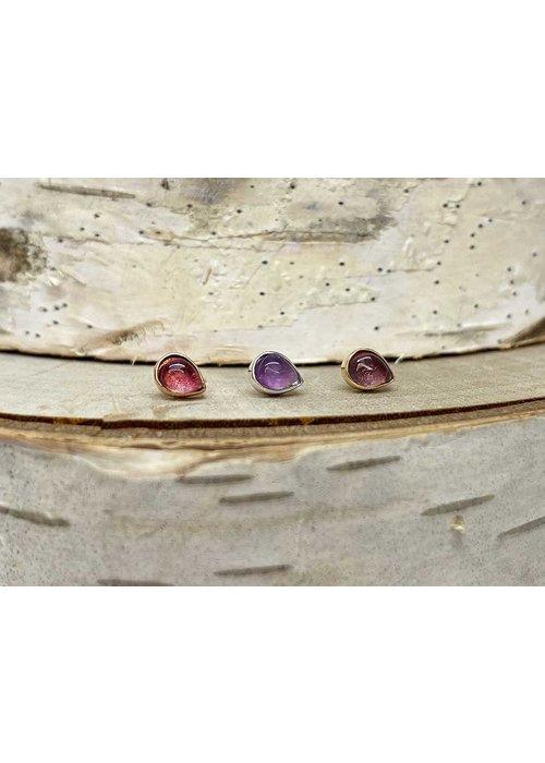 Buddha Jewelry Organics Buddha Jewelry Bezel Pear Rose Gold Amethyst 3mmx4mm Threadless