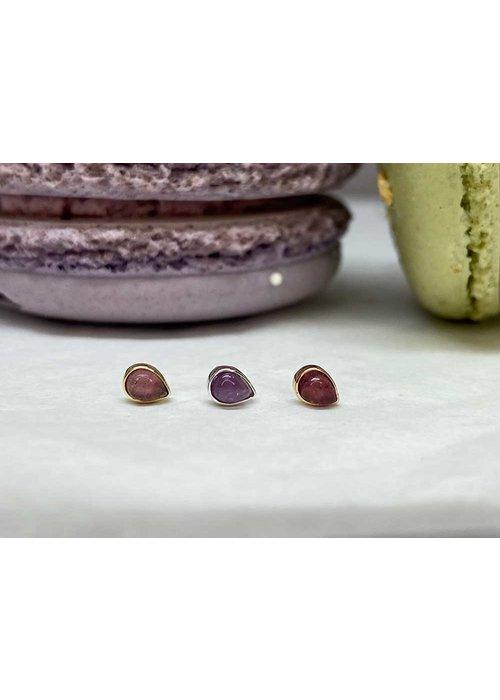 Buddha Jewelry Organics Buddha Jewelry Bezel Pear White Gold Amethyst 3mmx4mm Threadless