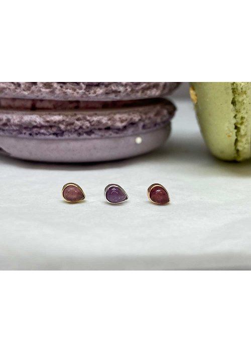 Buddha Jewelry Organics Buddha Jewelry Bezel Pear Yellow Gold Amethyst 3mmx4mm Threadless