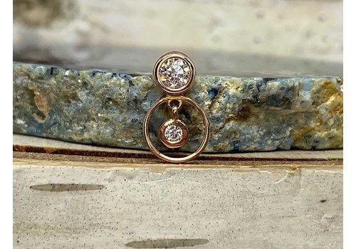 Buddha Jewelry Organics Buddha Jewelry Warhol Rose Gold CZ Threadless