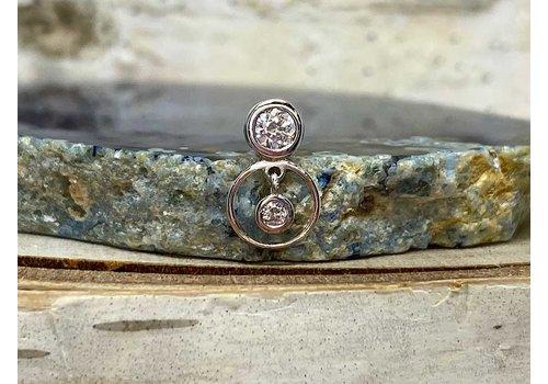 Buddha Jewelry Organics Buddha Jewelry Warhol White Gold CZ Threadless