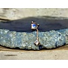 Buddha Jewelry Organics Buddha Jewelry Bianca Rose Gold Blue Moonstone with White Sapphire  Chain Threadless