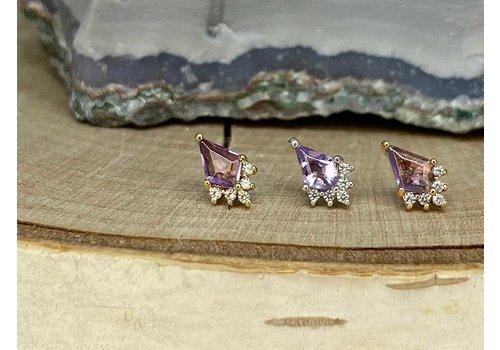 Buddha Jewelry Organics Buddha Jewelry Noble White Gold Amethyst with CZ