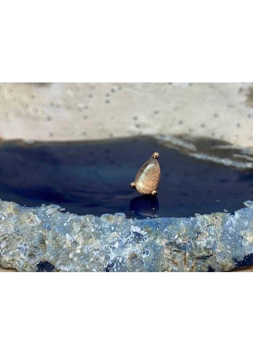 Buddha Jewelry Organics Buddha Jewelry Prong Pear Rose Gold Labradorite Threadless