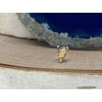 Buddha Jewelry Prong Pear Yellow Gold Labradorite Threadless