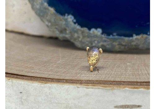 Buddha Jewelry Organics Buddha Jewelry Prong Pear Yellow Gold Labradorite Threadless