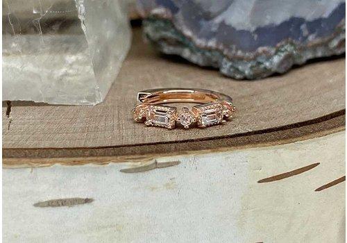 """Buddha Jewelry Organics Buddha Jewelry Euphoria Rose Gold White Sapphire 18g 5/16"""" Clicker"""