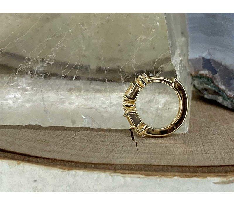 """Buddha Jewelry Euphoria Yellow Gold White Sapphire 18g 5/16"""" Clicker"""