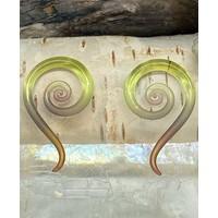 Glassheart Mini Spiral Snakes in Gold Tourmaline 8g