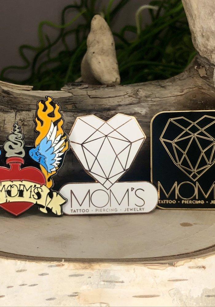 "Mom's ""Triple Threat"" Enamel Pins (all 3 Logo Pins)"